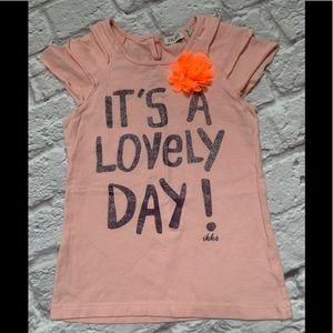 IKKS girls lovely day shirt size 4